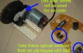 Con encoder óptico en una rueda de engranaje del engranaje