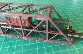 Construcción de un modelo a escala 1: 160 (N) de un puente de ferrocarril de viga