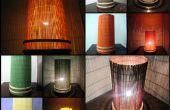 Lámpara de ambiente elegante intercambiables de distintos colores. Uso de esteras del comedores, muy fácil de hacer.