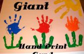 Arte de imprimir la mano gigante tarjeta