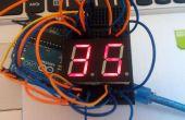 Temporizador de cuenta regresiva de Arduino sencillo 7 segmentos