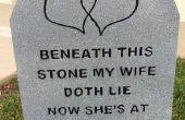 Lápidas con grabados Letras