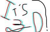 Texto 3D anaglifo