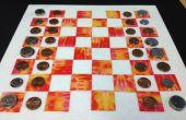 Set de ajedrez/inspector de azulejo de mármol/remanente y cinta... Elegir tu Color!