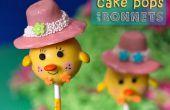 Chick Cake Pops con bonetes