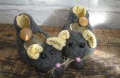 Monoambiente reciclado fieltro zapatillas ratón