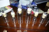 Piezas de ajedrez de frascos de medicamentos