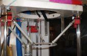 Robot Delta en Sla impresora (arriba hacia abajo)