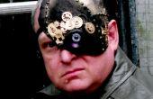 Máscara de Halloween de cyborg 1/4
