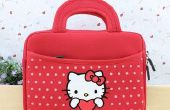 Hello kitty bolsa de mano suave para ipad