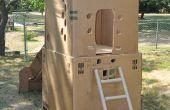 Clubhouse de cartón de 2 pisos