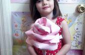 BRICOLAJE rosa gigante de papel