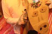 100% reciclado casero palo caballo juguete!