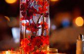 Centros de mesa de flores artificiales, simple y elegante boda