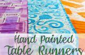 Caminos de mesa de pintado a mano
