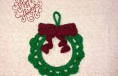 Navidad guirnalda Crochet adorno