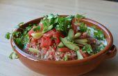 Ensalada de sandía con ajoblanco (gazpacho blanco Español) y Kombucha