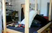 Taladro antiguo Colegio dormitorio habitación cama - 4 se convierte en cama digna de un rey!