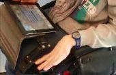 Tableta de silla de ruedas bandeja brazo smartphone