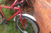 Guardabarros de bicicleta bricolaje