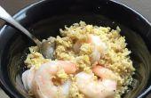 Un pote de camarones y arroz frito en 20 minutos