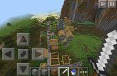 MCPE pueblo semilla con cuevas