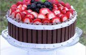 Pastel de fruta de Kit Kat