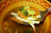 Curar la gripe con sopa de fideos de pollo *