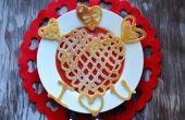 Día de corazón crepes San Valentín