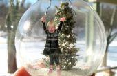 Hacer un adorno de cristal de Diorama de nieve