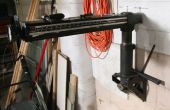 Sierra de brazo radial revisión y modificación para el almacenamiento de bajo perfil