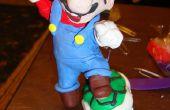 Super Mario hermanos escultura de arcilla de polímero