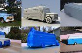 Cómo 3D imprimir un modelo de encargo del coche (1966 Chevy Bus)