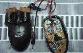 Curva/hackear un ratón óptico para escuchar texturas superficiales.