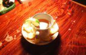 Fabricación de té naranja con cáscaras de