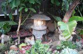 Hacer una linterna de jardín japonés de Hypertufa