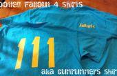 Bootleg Fallout 4 camisetas con un cortador del vinilo. también conocido como camisas de corredor de armas