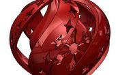 Vacaciones impresa 3D espiral ornamento