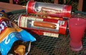 Horno solar para un perro caliente