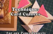 Técnica: Cómo hacer las esquinas de la tarjeta para sus proyectos de papel