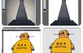 Cortar cosas de varita mágica de un uso de Pixlr Editor de imágenes de