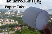 El increíble vuelo de papel del tubo