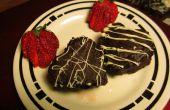 Corazones de Brownie de chocolate avellana
