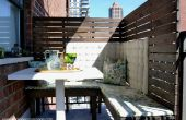 BRICOLAJE paneles de privacidad para un pequeño balcón