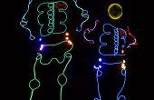 EL esqueleto de alambre traje las luces controladas por un Arduino