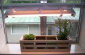 Sencillo interior hierba del jardín con ajustable crece la luz
