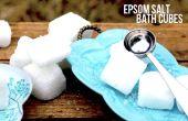 Con gas cubos de baño de sal de Epsom