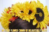 Hadas de bricolaje flor corona