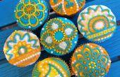 Cupcakes de Henna fácil