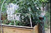 Caja de plantador del jardín cubierta